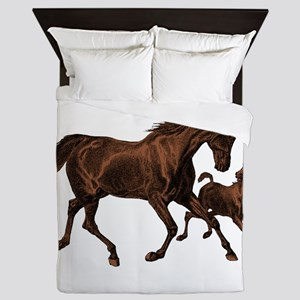Chestnut Mare and Foal Queen Duvet
