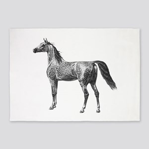 Arabian Horse 5'x7'Area Rug