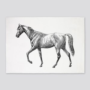 Walking Horse 5'x7'Area Rug