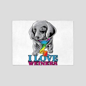 I love weiners pride LGBTQ march ga 5'x7'Area Rug