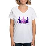 Shop 'til We Drop Women's V-Neck T-Shirt