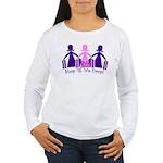 Shop 'til We Drop Women's Long Sleeve T-Shirt