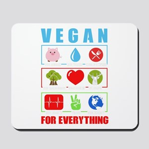 Vegan diet plant animal rights peace lov Mousepad