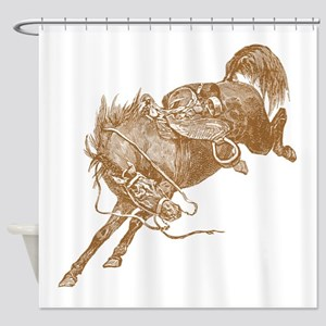 Brown Bronco Shower Curtain