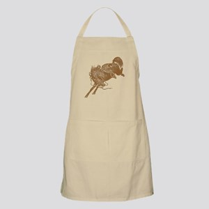Brown Bronco Apron