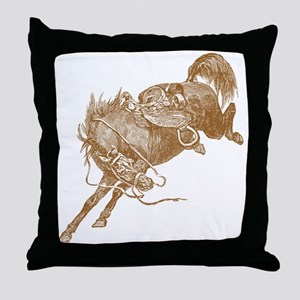 Brown Bronco Throw Pillow