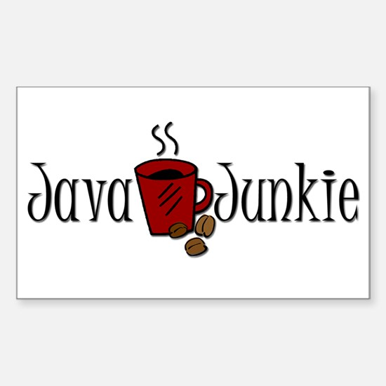 Java Junkie Rectangle Decal