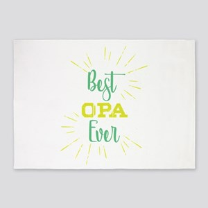 Best Opa Ever T-Shirt Funny Family 5'x7'Area Rug