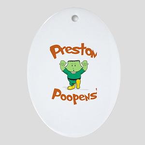 Preston - Mr. Poopenstein Oval Ornament