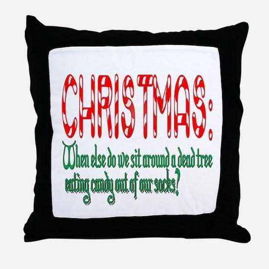 Christmas funny Throw Pillow