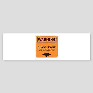 Warning Blast Bumper Sticker