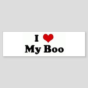 I Love My Boo Bumper Sticker