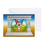 OES Star and columns Greeting Cards (Pk of 20)