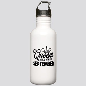 Queens Are Born In September Water Bottle