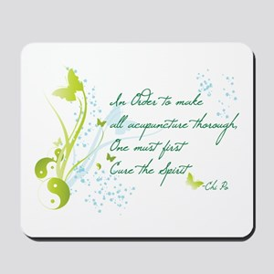 """""""Cure The Spirit"""" Quote Mousepad"""