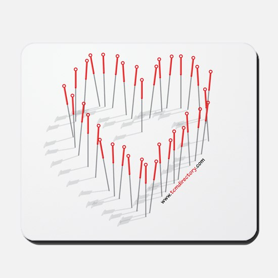 Acupuncture Needle Heart Mousepad