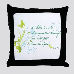 """Cure The Spirit"" Quote Throw Pillow"