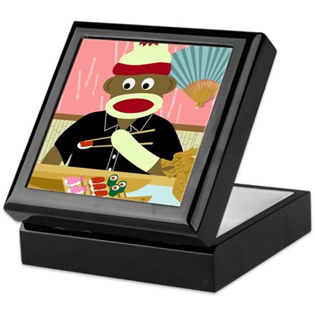 Sock Monkey Sushi Keepsake Box