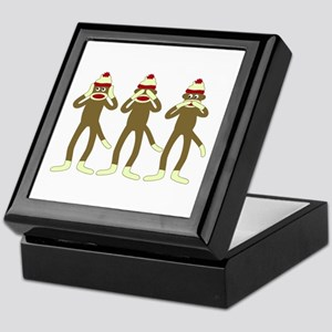 No Evil Sock Monkeys Keepsake Box