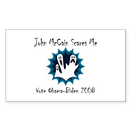 John McCain Scares Me Rectangle Sticker
