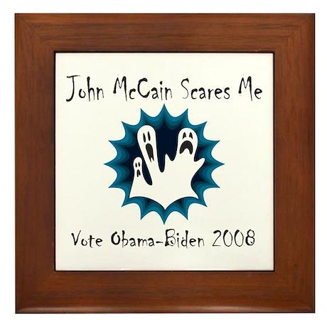 John McCain Scares Me Framed Tile