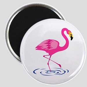 Pink Flamingo on One Leg Magnet