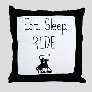 Eat. Sleep. Ride. (Throw Pillow)