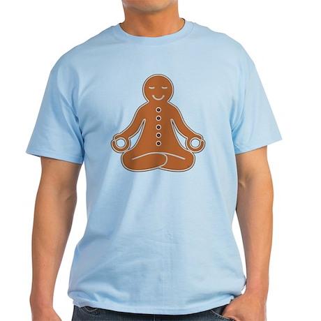 Meditating Gingerbread Man Tee (Light)