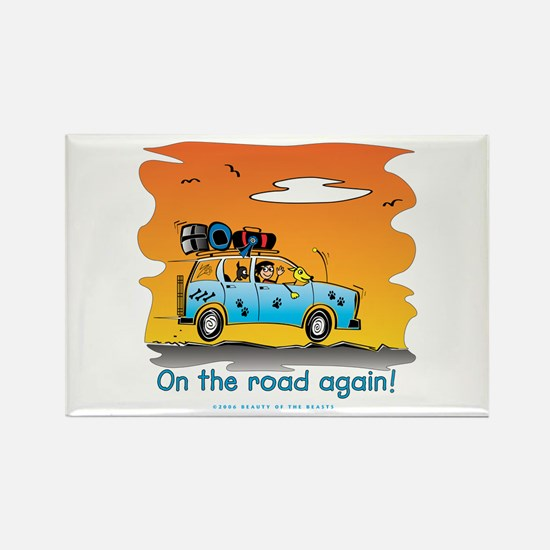 On the Road Again - At Sunset Rectangle Magnet
