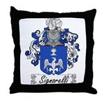 Signorelli Family Crest Throw Pillow