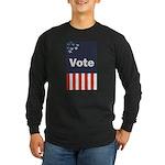 Vote Long Sleeve Dark T-Shirt