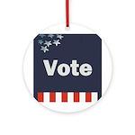 Vote Round Ornament