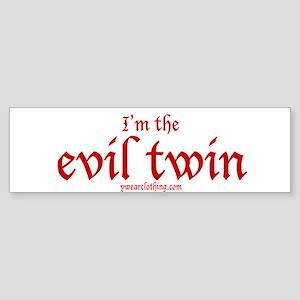 Evil Twin Bumper Sticker