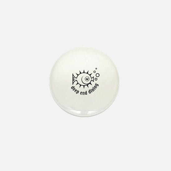 Cute Deep see diver Mini Button