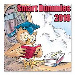 "Smart Dummies 2018 Logo Square Car Magnet 3"""