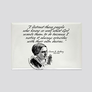 Susan B. Anthony Rectangle Magnet