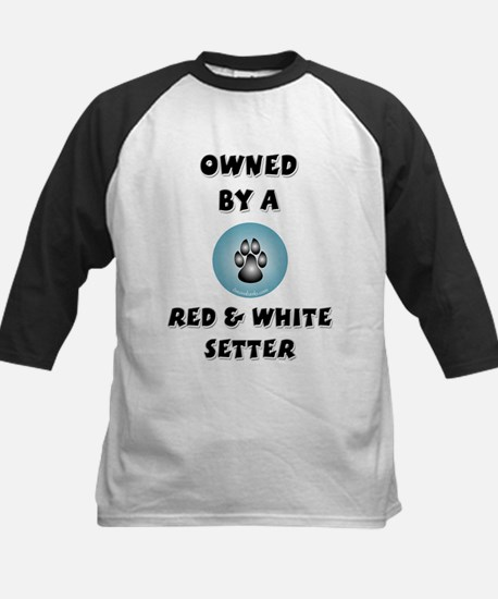 Owned by a Red & White Setter Kids Baseball Jersey