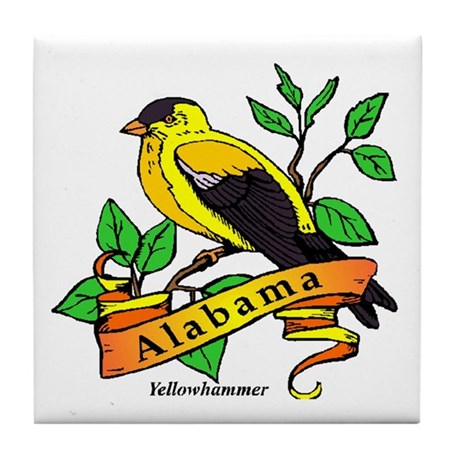 Alabama State Bird Tile Coaster