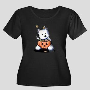 Hallowestie Women's Plus Size Scoop Neck Dark T-Sh