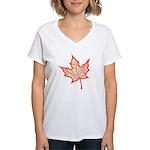 Fire Leaf Women's V-Neck T-Shirt