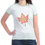 Fire Leaf Jr. Ringer T-Shirt