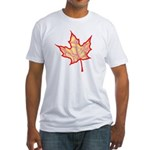 Fire Leaf Fitted T-Shirt