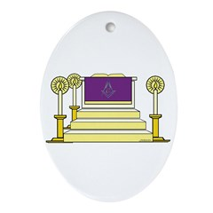 The Altar Oval Ornament