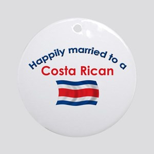 Happily Married Costa Rican 2 Ornament (Round)
