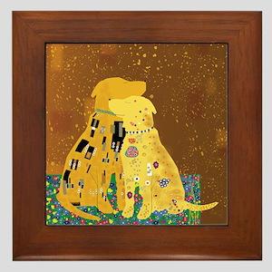 Klimt's Kanines Framed Tile