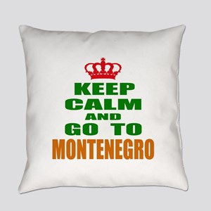 Keep Calm And Go To Montenegro Cou Everyday Pillow