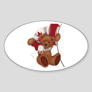 Canada Bear Oval Sticker