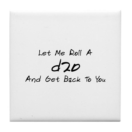 Game Humor - d20 Tile Coaster