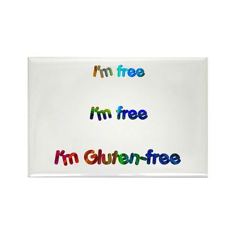 I'm Free I'm Free I'm Gluten- Rectangle Magnet (10