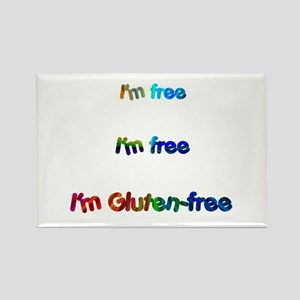 I'm Free Gluten- Rectangle Magnet Magnets